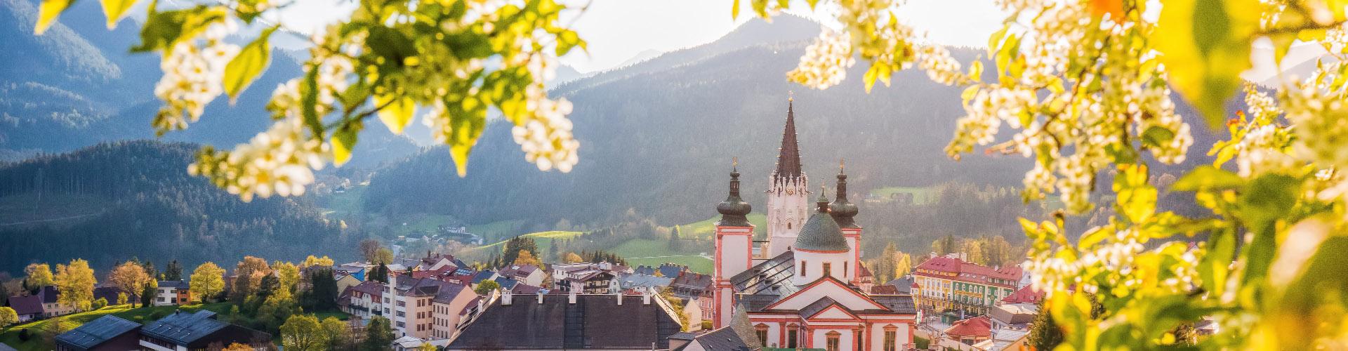 Mariazell im Frühjahr, © www.mariazell.blog
