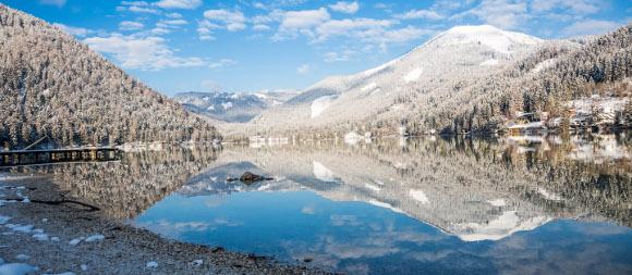 Erlaufsee im Winter, © www.mariazell.blog