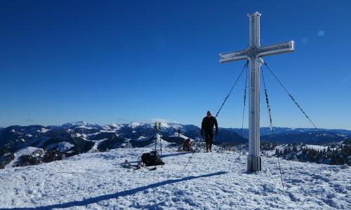 Gipfelkreuz am Toniongipfel, © Franz Fidi