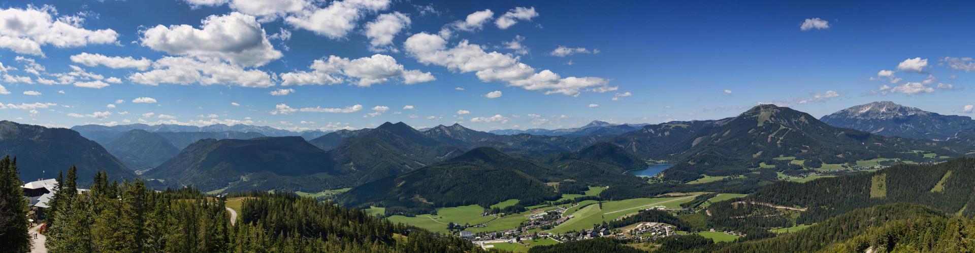 Blick von der Aussichtswarte Bürgeralpe Panorama, © www.mariazell.blog/Fotograf: Fred Lindmoser