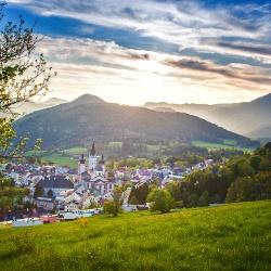 Blick auf Mariazell im Frühjahr, ©  www.mariazell.blog