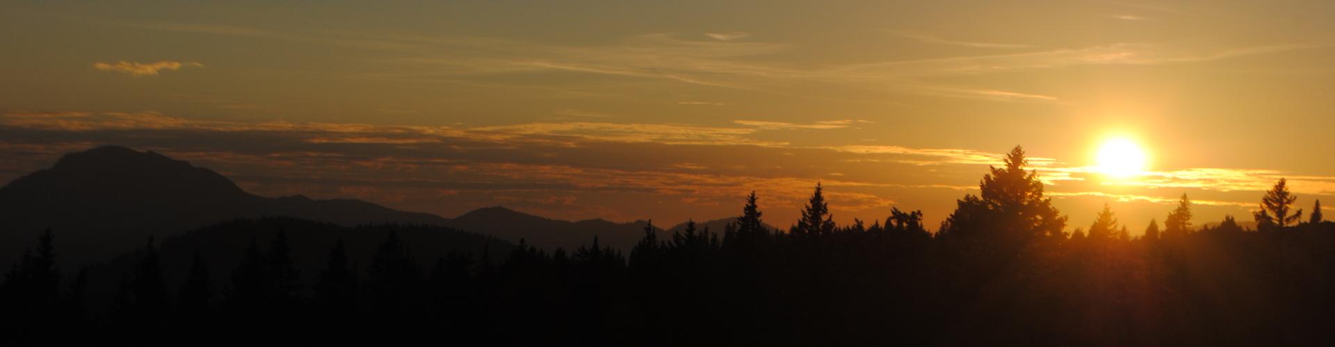 Sonnenuntergang - Halterhütte Brach, © TVB Mariazeller Land