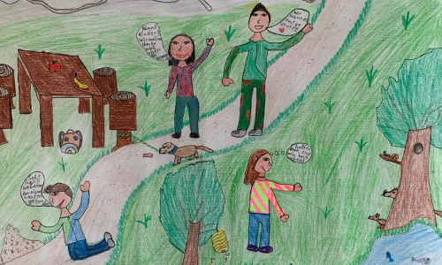 Siegreiche Zeichnung der Schülerin Eva-Maria Fluch © Eva-Maria Fluch