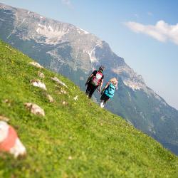 Wandern mit Blick auf den Ötscher, © www.mariazell.blog