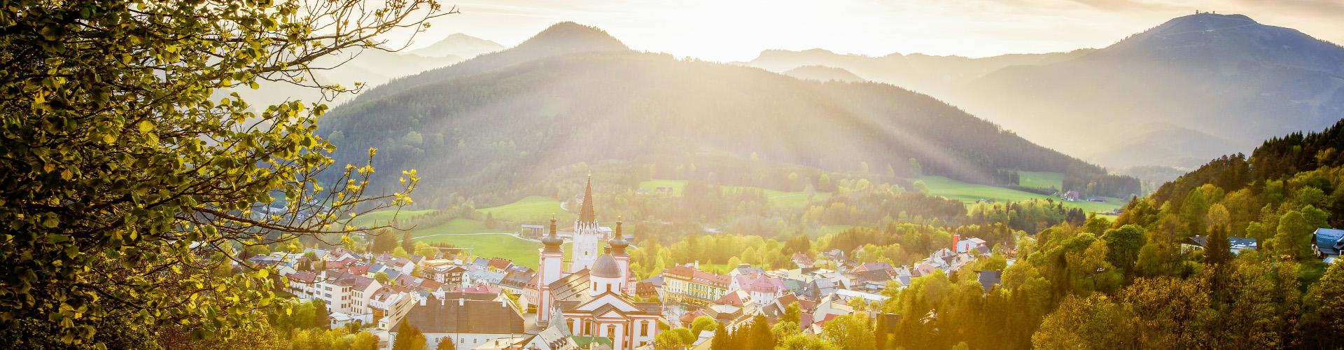Blick auf Mariazell im Frühling, © www.mariazell.blog